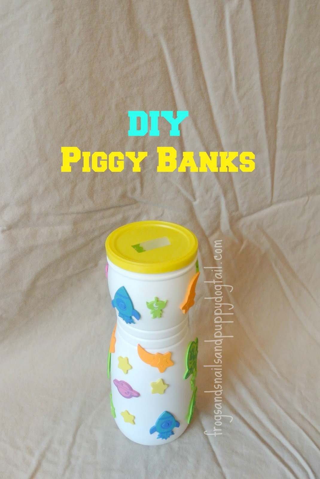Diy or homemade piggy banks fspdt for How to make a simple piggy bank