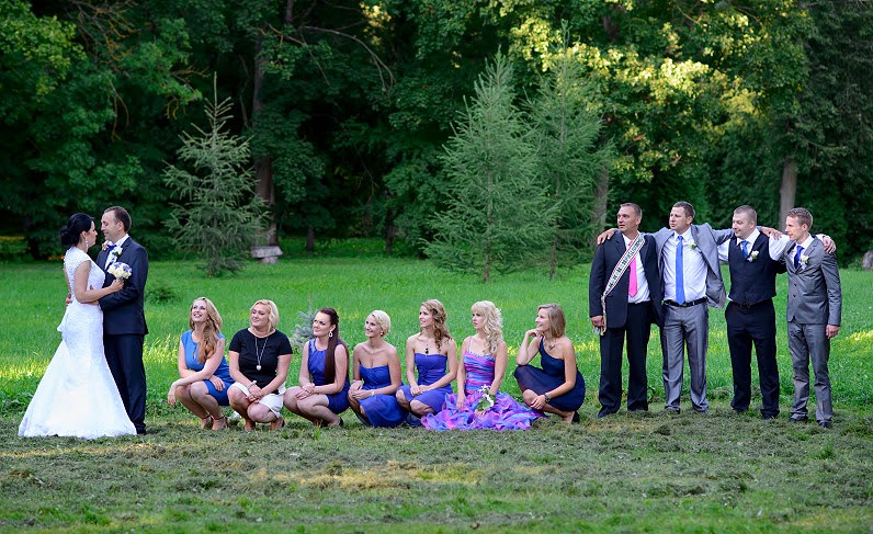 graži vestuvinė nuotrauka