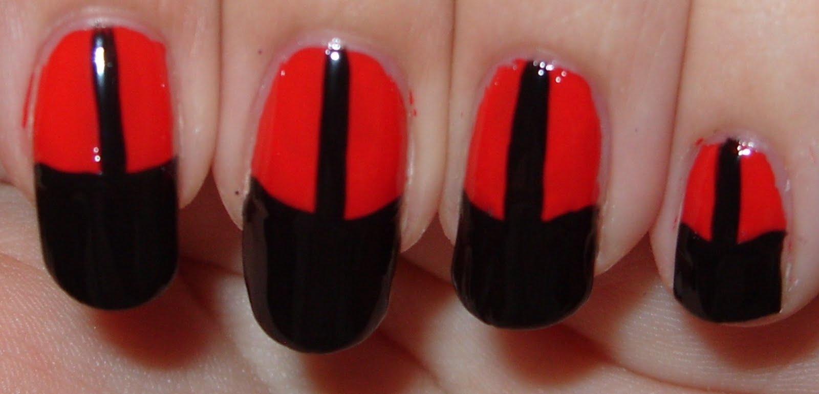 Sharihearts black red corset nail art black red corset nail art prinsesfo Choice Image