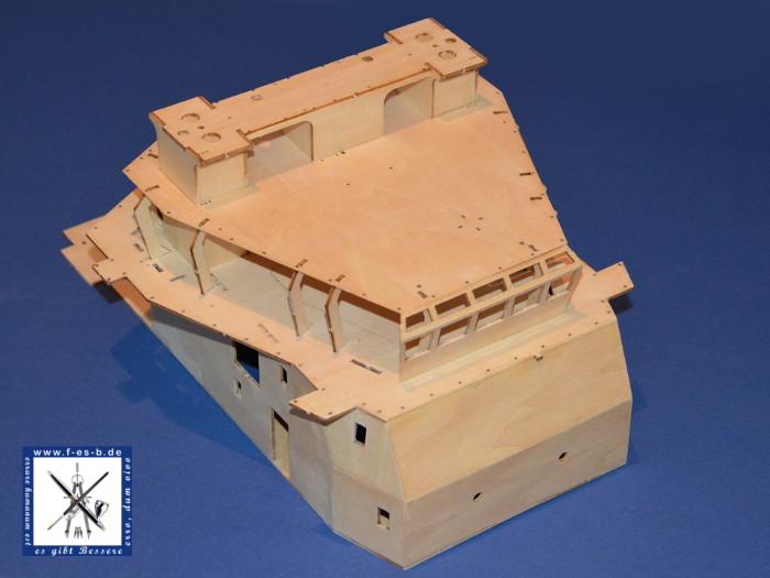 Billing Boat Fairmount Alpine Bau der Kabine - zusammengesteckter / teilweise verklebter Aufbau