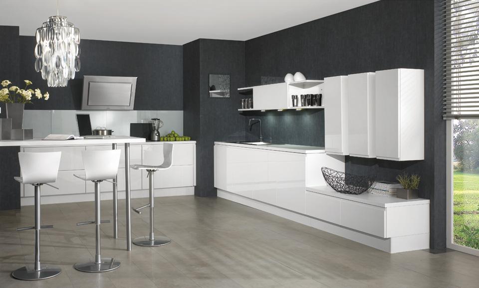 Las influyentes paredes de la cocina cocinas con estilo - Cocinas blancas y gris ...
