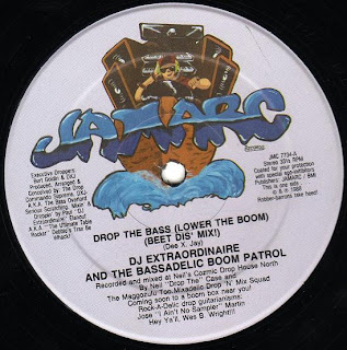 DJ Extraordinaire And Bassadelic, The - Drop The Bass (Lower The Boom) (Vinyl, 12\'\' 1988)(Jamarc Records)
