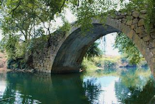 Zhouzhai bridge named Wanfu bridge