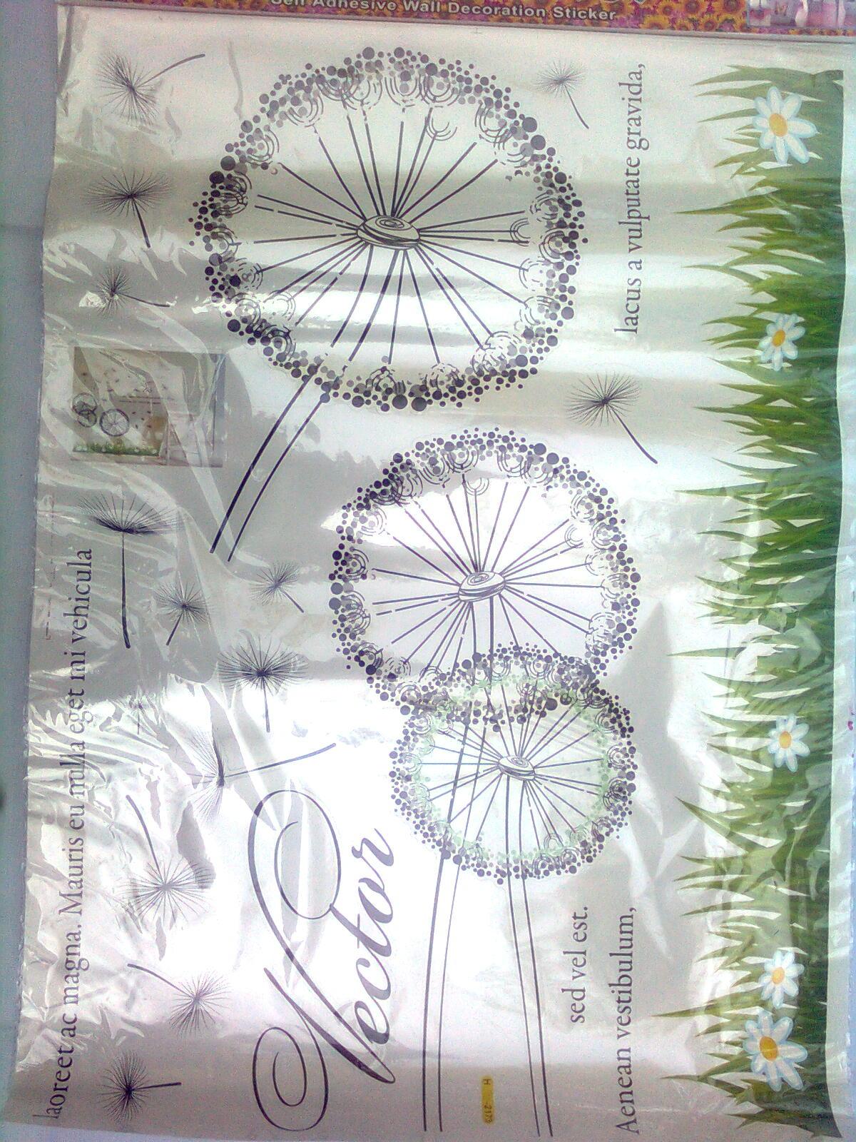 Macam Stiker Dinding Elegant 50x70 Cm Saparatos Wall Sticker Kode 05 Kalau Disusun