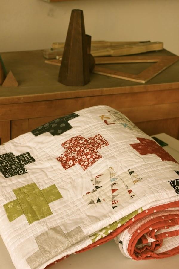 Un look vintage para un quilt de patchwork