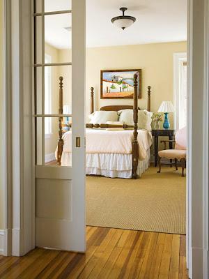 diseño de dormitorio amarillo