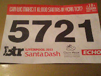 Number 5721 for Liverpool Santa Dash 2013