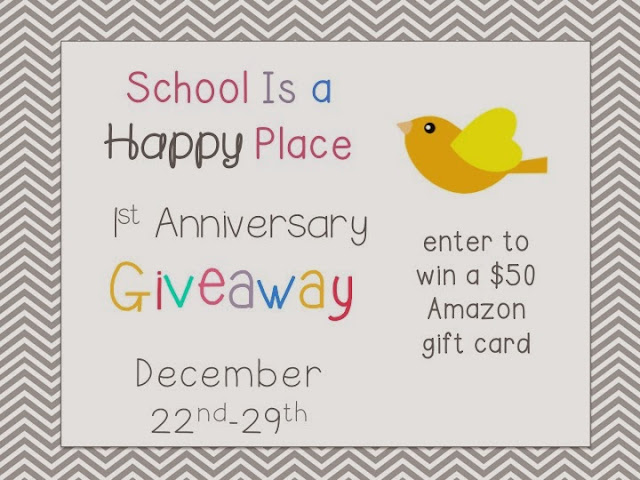 School is a happy place first anniversary giveaway