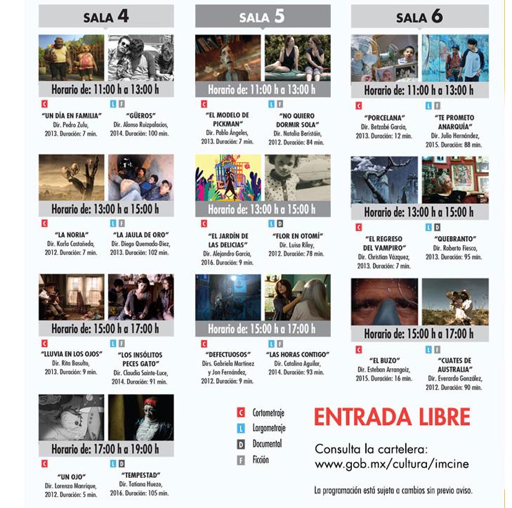 Día Nacional del Cine Mexicano Programa