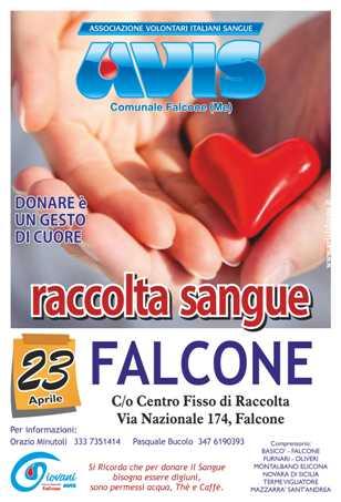 23 APRILE, DONAZIONE AL CENTRO FISSO DI RACCOLTA DI FALCONE IN VIA NAZIONALE, 174