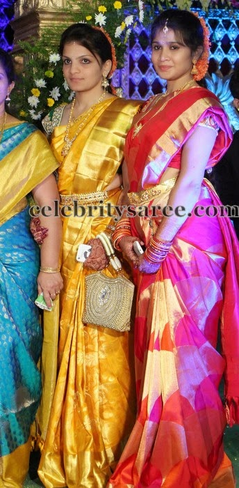 South Indian Girls in Silk Sarees