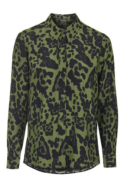 khaki leopard print shirt,