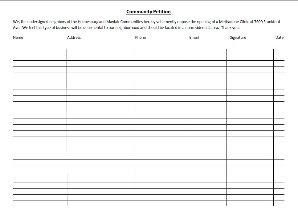 petition template to print - free petition templates examples