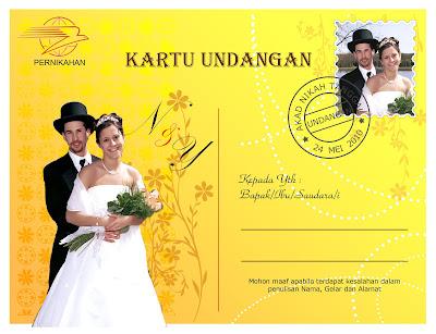 Cara membuat undangan pernikahan dengan photoshop