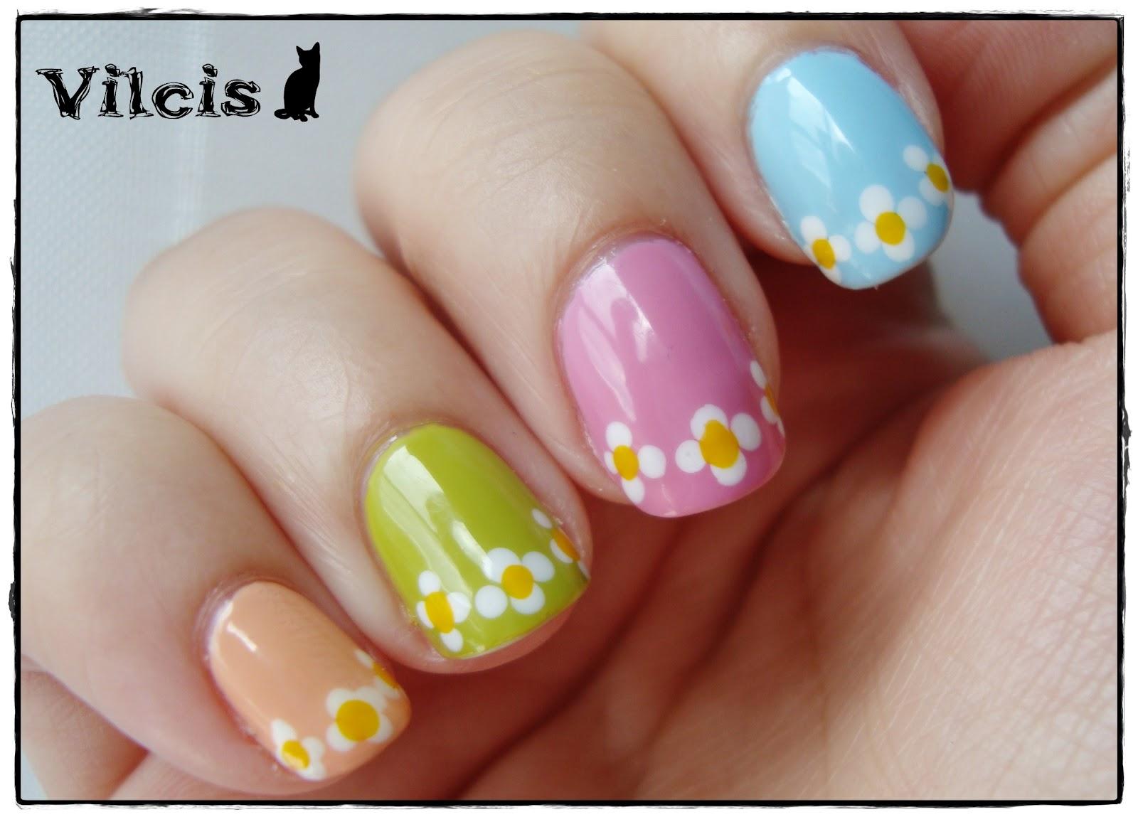 Vilcis nail designs: Desafío 31 días - Día 14 - Uñas con flores