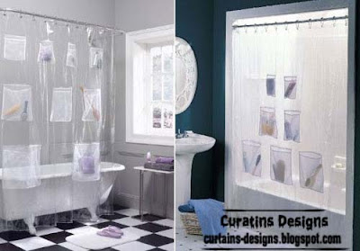 pockets shower curtain model 30 Creative shower curtains unique designs, styles, photos 2