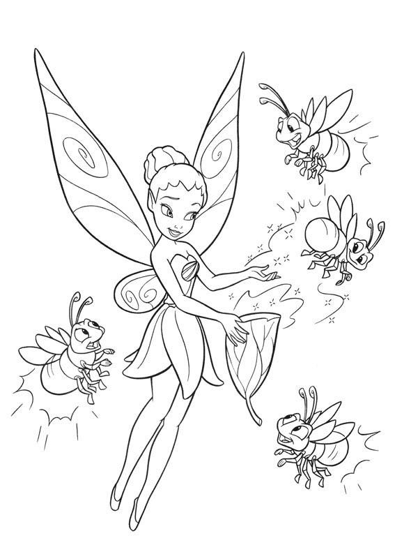 large coloring pages disney tinkerbell - photo#29