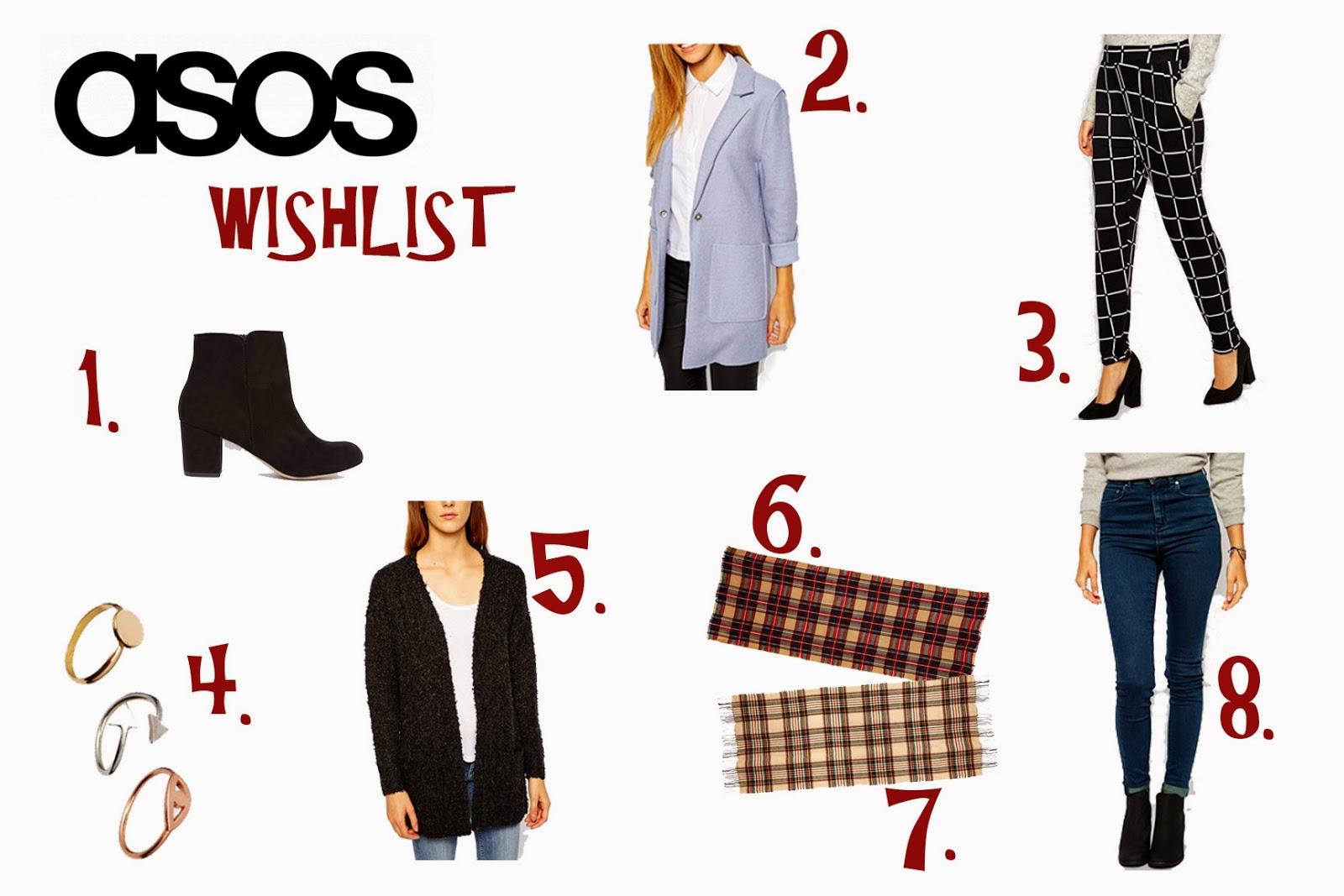 asos wishlist autumn fall fashion