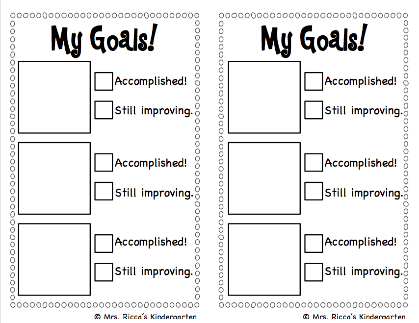 Printable goals for students