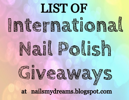 list of international nail polish giveaways