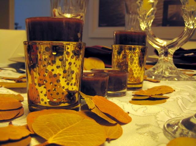 decorando uma mesa de jantar