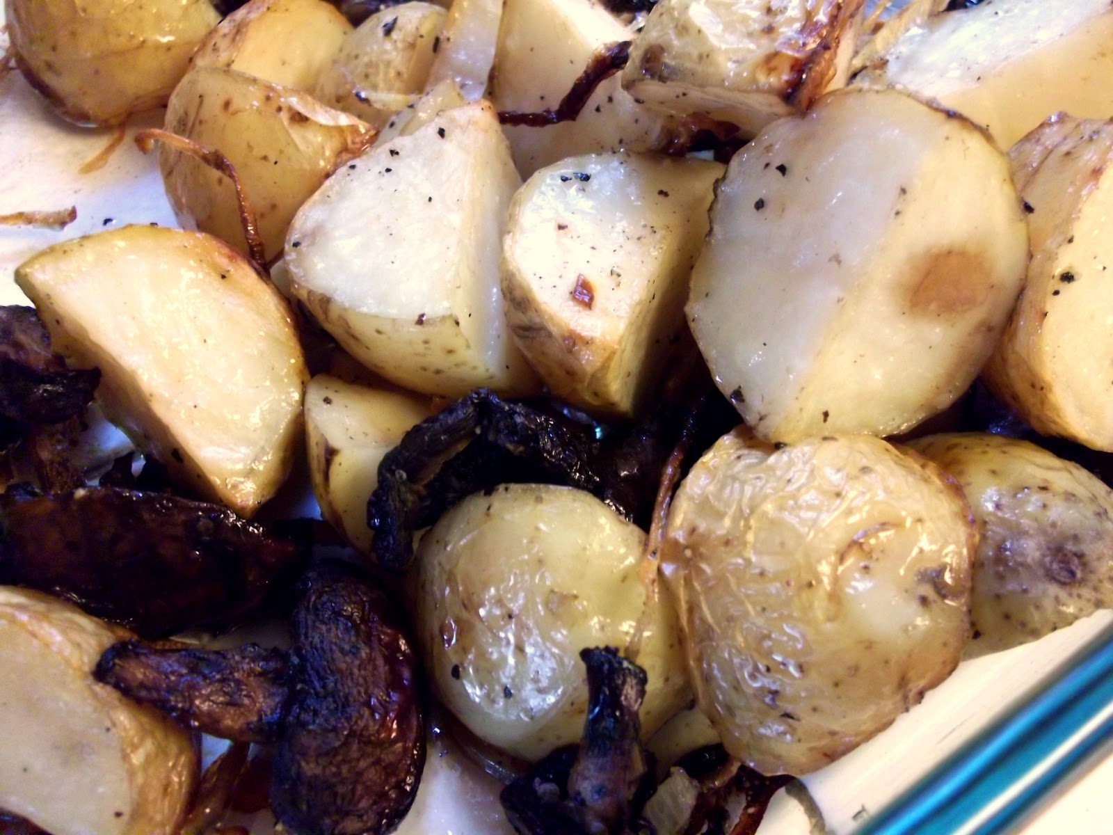 Roasted New Potatoes With Caramelized Onions And Truffle Oil Recipes ...