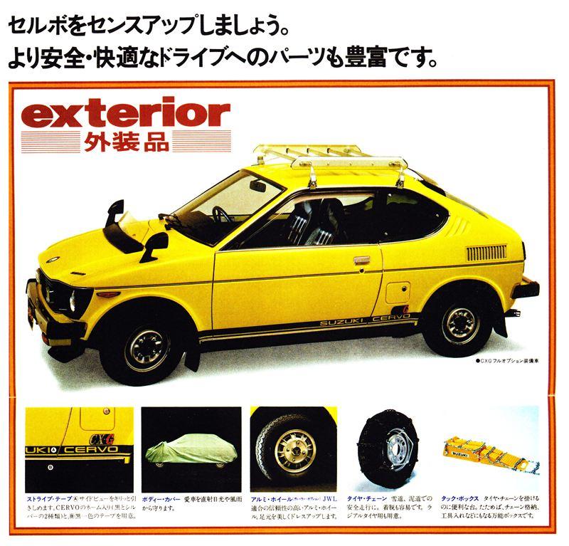 suzuki cervo ss20, kei car, stare małe auta, samochody z japonii, klasyki z lat 70, jdm