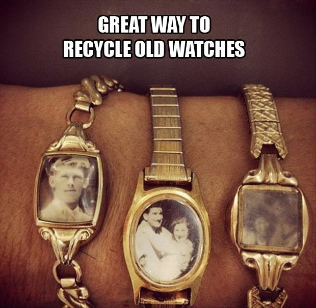 reaproveitar relógios velhos