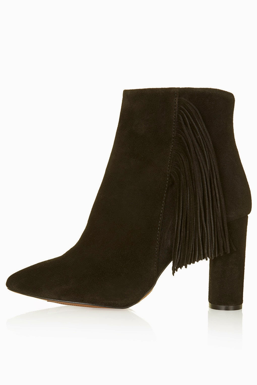 topshop black fringed boot, muskat boot,