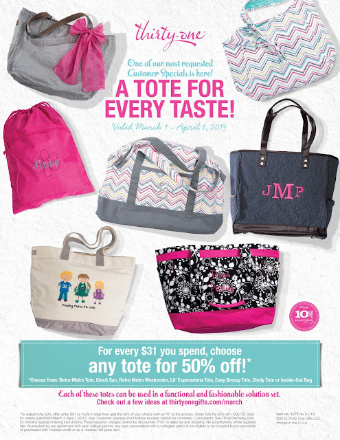Thirty-One March Specials