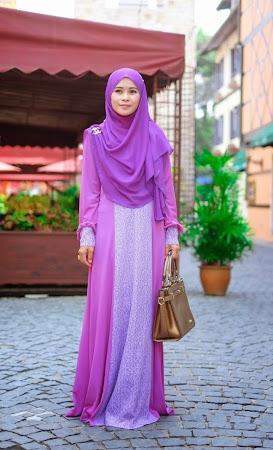 Paling Cantik dan Exclusive. Chiffon Dress Dengan Kombinasi Warna Yang Sangat Menawan