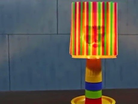 Creative Handcraft  table lamp of glass and plate