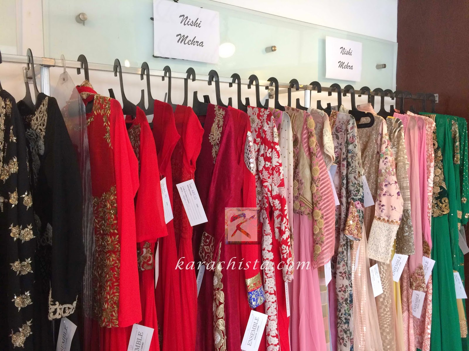 Indian designer Nishi Mehra at Ensemble Karachi