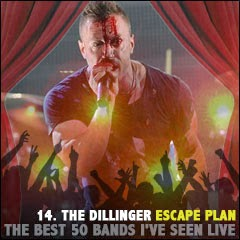The Best 50 Bands I've Seen Live: 14. Dillinger Escape Plan