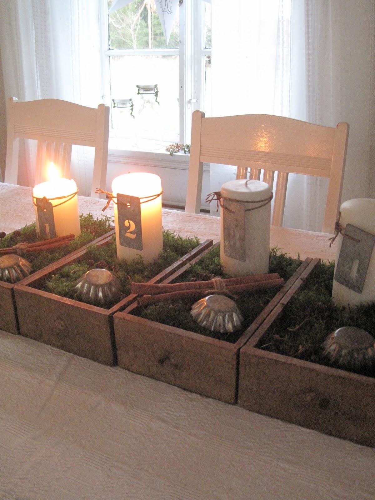 Min vita spets: advent i matsalen ...
