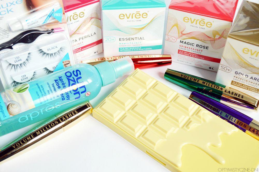 zakupy kosmetyczne loreal evree makeup revolution ardell