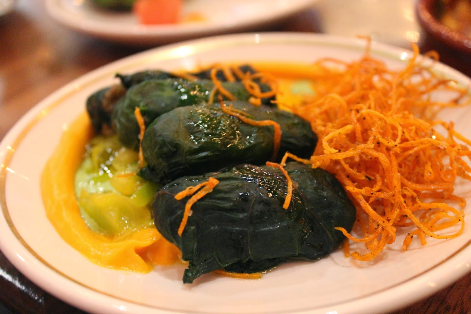 Persian beef and Swiss chard rolls at Sarma, Somerville, Mass.