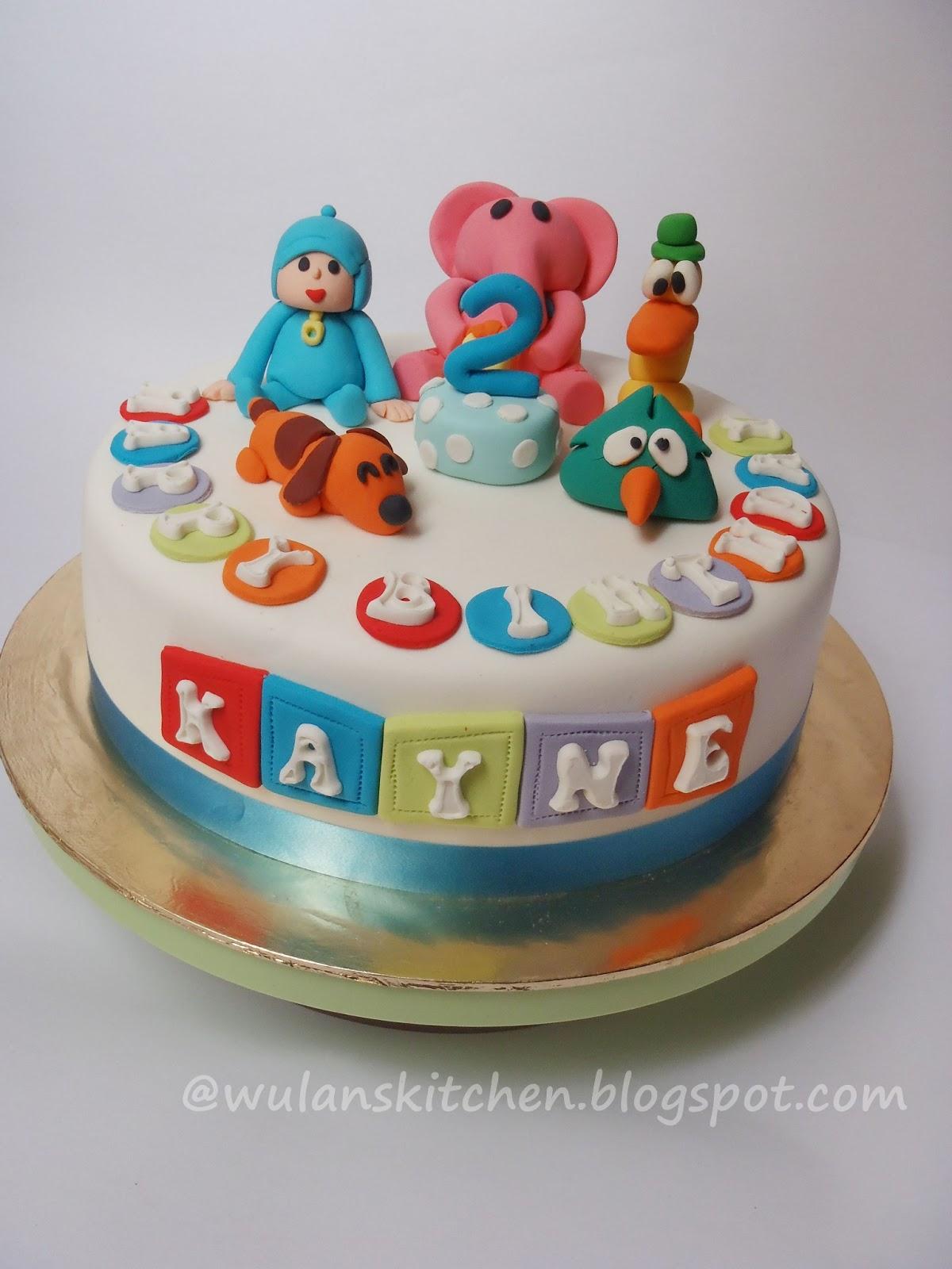 Wu Lans Kitchen Pocoyo Birthday Cake