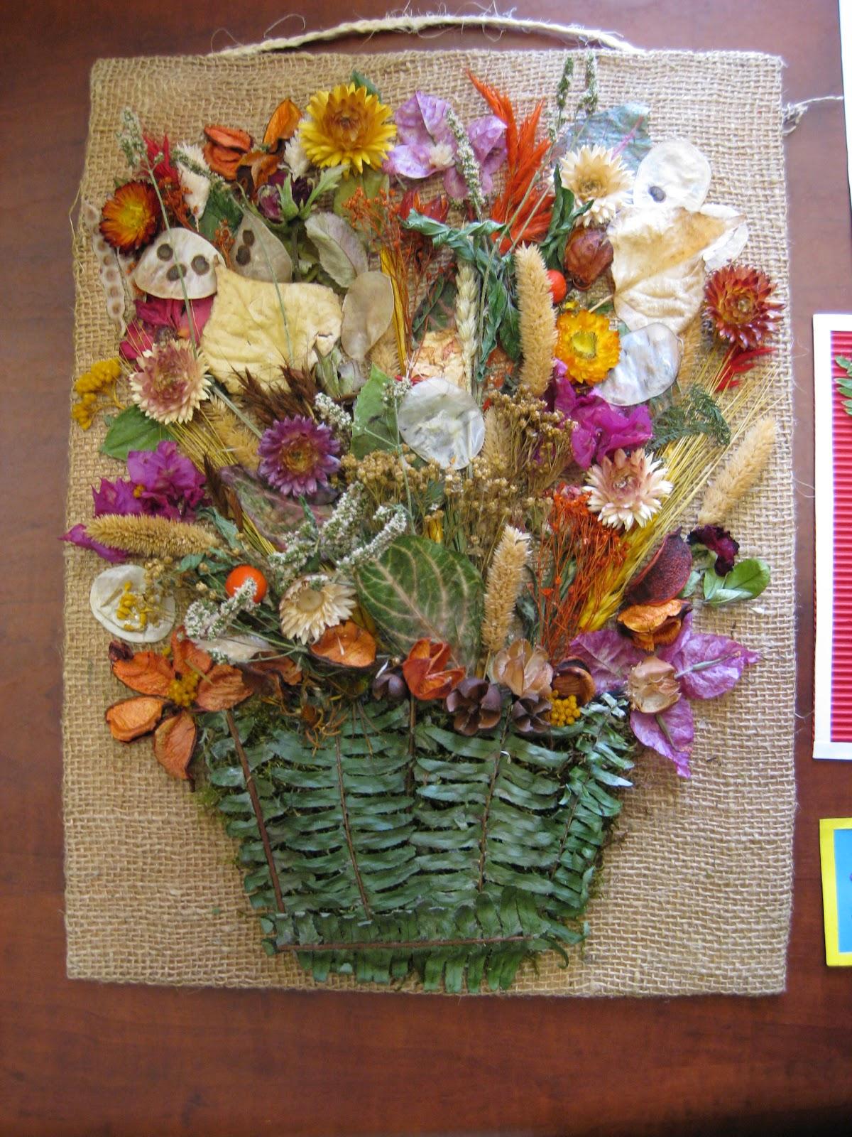 Con arte en las manos cuadros de flores secas for Como colgar un cuadro
