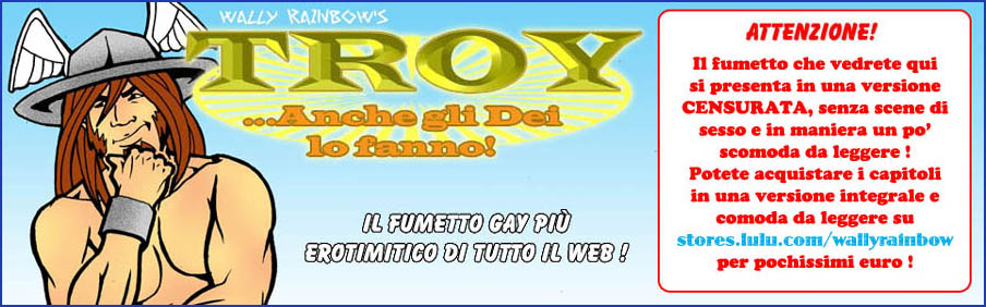 WALLY RAINBOW TROY fumetti porno gay hard comics hot sex porn sexy male mitologia