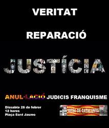 DISSETENA CONCENTRACIÓ VERITAT, JUSTÍCIA I  REPARACIÓ