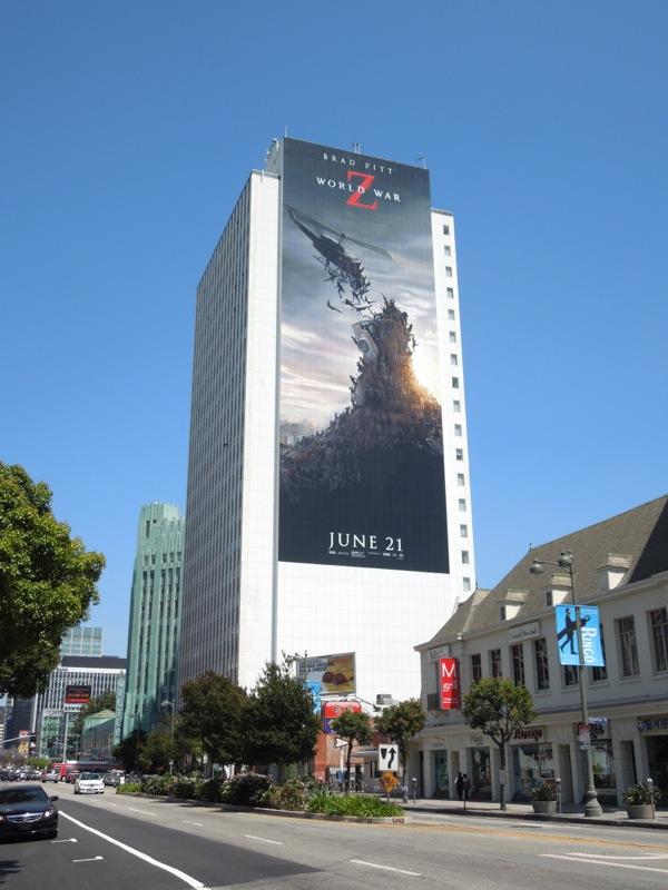 Giant World War Z movie billboard