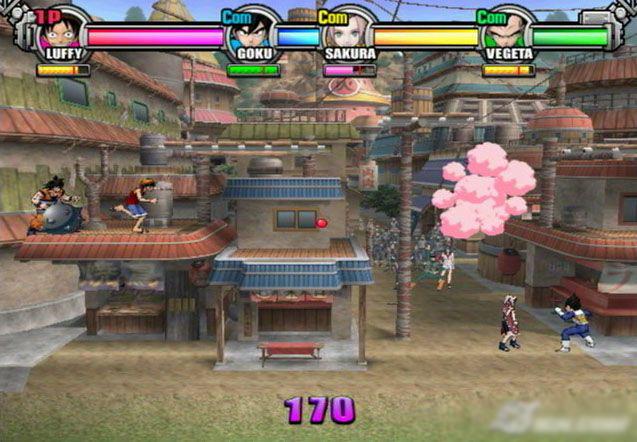 لعبة BattleStadium D.O.N ps2 التي تجمع بين ناروتو بيس ودراجون