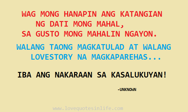 tagalog love quotes for him her love quotes in life