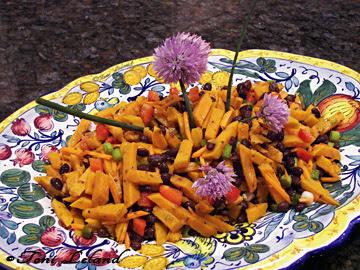 Fresh Sweet Potato and Black Bean Salad by Toni Leland