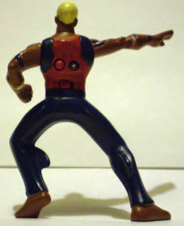 Back of McDonald's Young Justice Aqualad action figure from 2011