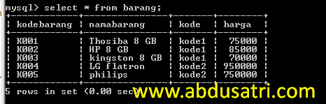 cara membuat query di mysql