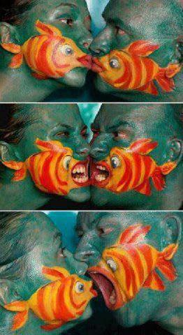 Face Painting, Couples Art, Fish Art, Awesomeness, Hilarious, Popular Pinterest,