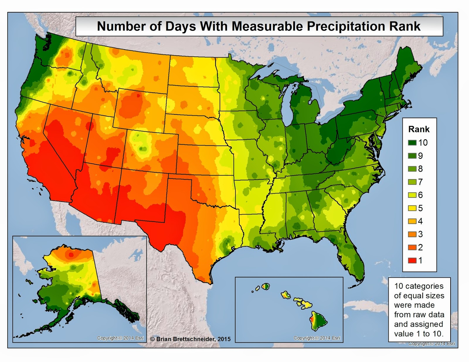 Brian Bs Climate Blog Dreary Weather - Annual precipitation map us