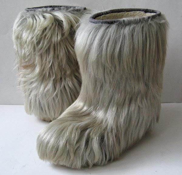 Italian Goat Fur Yeti Boots Jimmy Choo Fur Boots Womens